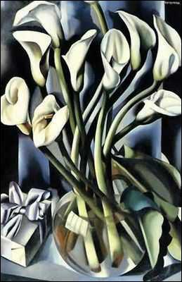 Vase et fleurs, qui présente un bouquet de callas, est peint par l'artiste ?