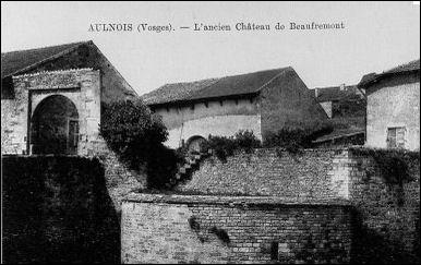 Par qui les premières bases du château de Beaufremont, au Ve siècle ont-elles été construites ?