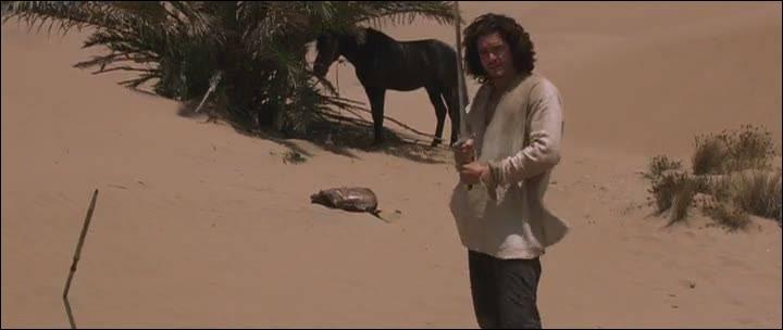 Quel est le nom du 'chevalier' musulman tué par Balian alors que celui-ci est perdu dans le désert ?
