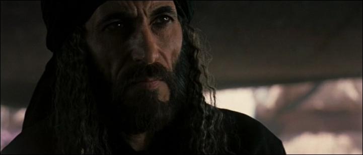 Finalement, Jérusalem est livrée à Saladin et Balian est libre de revenir en France avec Sybille. Que fait Saladin durant sa dernière apparition à l'écran ?