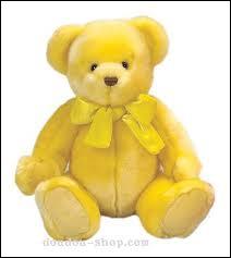 Quelle est la couleur de cet ours en peluche ?