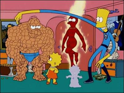 Dans un autre épisode spécial Halloween, on voit Homer devenir La Chose, Marge la Torche Humaine, Bart Mr. Fantastique et Maggie la Femme Invisible. C'est une référence à quel groupe de super héros ?