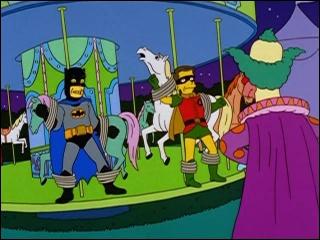Krusty le clown a joué 'le méchant' dans un film de super héros. Lequel ?