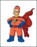 Quel est le nom du super héros imaginé par le vendeur de BD ?