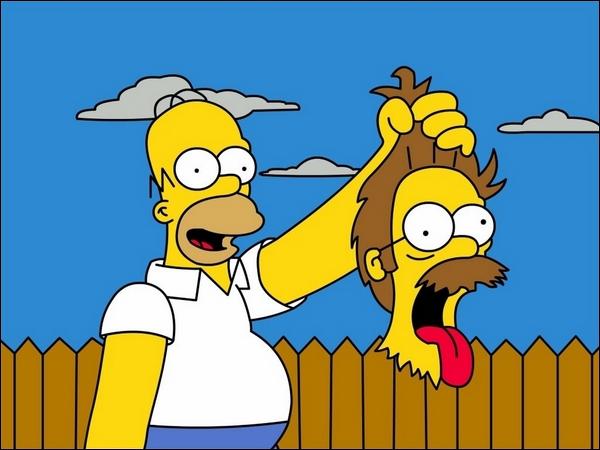 Pour une fois qu'Homer taille ses haies ! Le truc bête quoi... Qui a perdu le plus la tête dans cette histoire ?