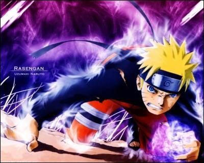 Sur quelle épaule Naruto a-t-il une sorte de spirale blanche ?