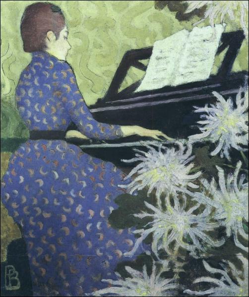 Andrée Bonnard au piano