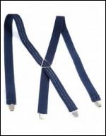 Les bretelles bleues sont des accessoires vestimentaires portés souvent par quel personnage ?