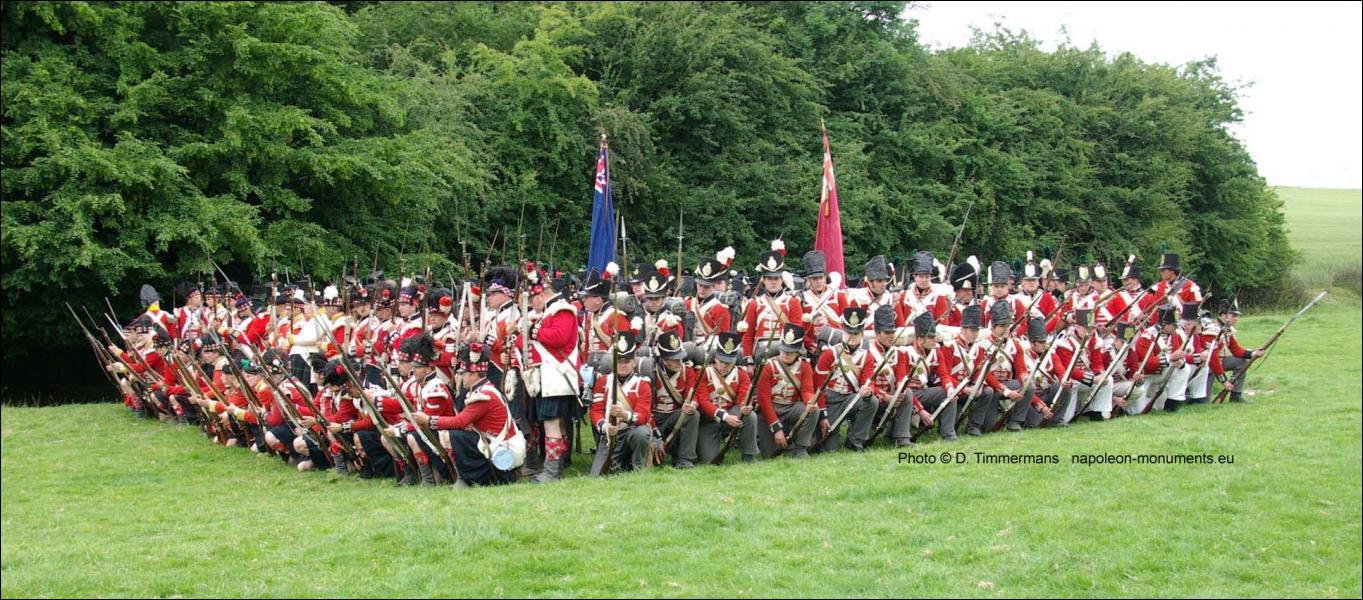 Quel est le nom de cette formation qui réussit à stopper nette la charge de la cavalerie francaise ?