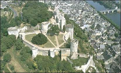 Cette forteresse est construite sur un éperon rocheux dominant la Vienne et la ville.