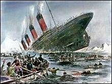 Il y a 100 ans : naufrage du Titanic dans la nuit du 14 au 15/4/1912. A 23h40, il heurte un iceberg, il coule à 2h20 au large de Terre Neuve. Combien de personnes périrent dans cette catastrophe ?