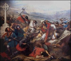 Où Charles Martel parvient-il à arrêter l'armée d'Abd al-Rahman en 732 ?