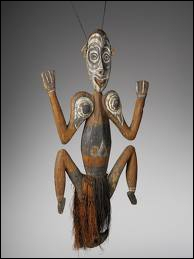Ce crochet de Papouasie a été fabriqué avec du bois, des fibres végétales et des pigments. A quel usage était-il destiné ?