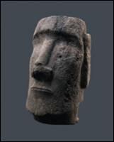 Cette tête venant de l'île de Pâques a été taillée dans de la roche volcanique. Elle mesure 1, 70 m ce qui laisse penser que la statue complète devait mesurer 5 m environ. Comment sont-elles appelées ?