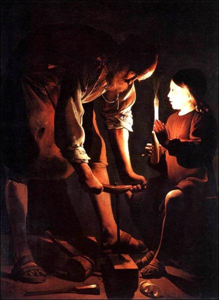 10 v1h23 [Lanalyse du dimanche] Saint Joseph charpentier par Georges de la Tour