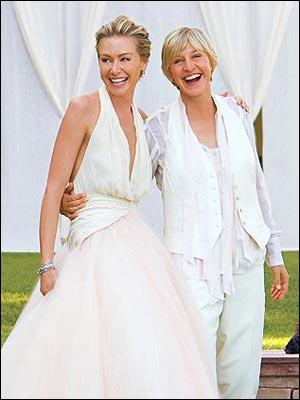 Comment s'appelle l'épouse de la comédienne américaine Ellen DeGeneres ?
