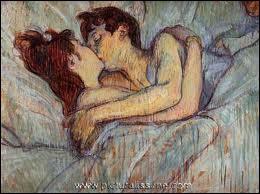 Qui a peint Baiser dans le lit ?