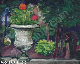 Qui a peint Le baiser dans le jardin ?
