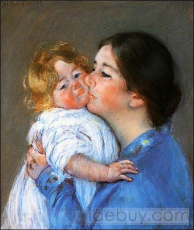 Qui a peint Baiser pour Baby Anne ?