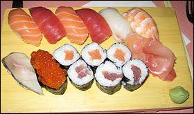 C'est un plat japonais, il ressemble aux poissons, mais on le prépare avec du riz. Ce sont ...