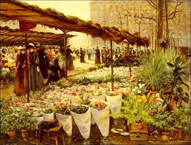 Marche aux fleurs à la Madeleine