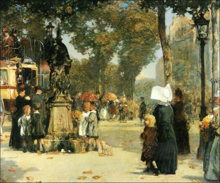 Scène de rue à Paris
