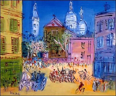 L'église Saint-Pierre et le Sacré-Coeur à Montmartre