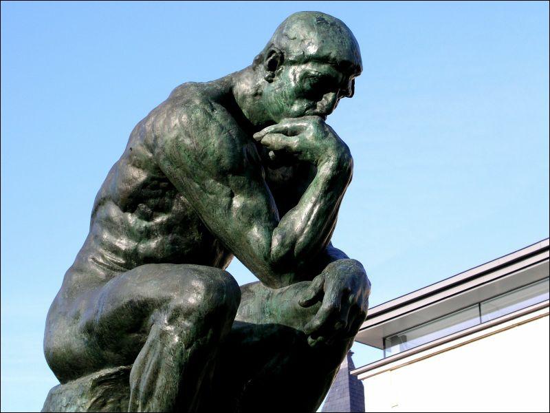 Le Penseur de Rodin est un excellent exemple pour vous présentez le deuxième art. il s'agit ...
