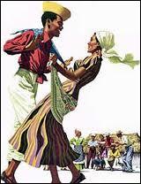 ''Mais pour bien la biguine danser Faudrait ma peau ta peau toucher T'es loin t'es tell'ment loin de moi Qu'la biguine j'la danse pas''