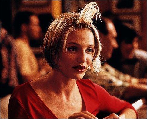 Célébrissime gag d'un film, la coiffure faite... . de Cameron Diaz, dans le film ?