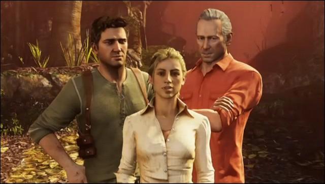 Où peut-on voir pour la première fois des 'monstres' dans 'Uncharted 3' ?