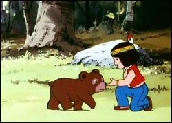 Quel est le nom de ce petit ourson que l'on voit ici avec Moy ?