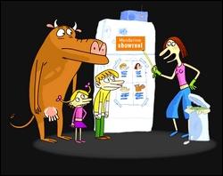 'Mandarine and cow' est un dessin animé...