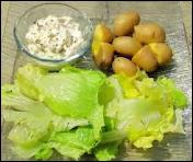 Fromage blanc aux herbes, oignons, ails et échalotes, dans lequel on trempe ?
