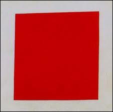 Quel artiste a peint ce tableau intitulé 'Carré rouge' (fallait y penser) ?