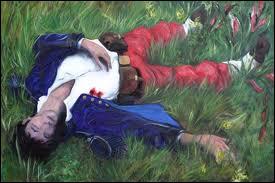 'Il dort dans le soleil, la main sur sa poitrine, tranquille. Il a deux trous rouges au côté droit. ' De qui est ce dormeur ?