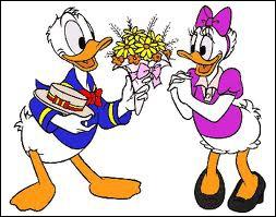 A qui Donald fête-t-il la saint Valentin ?