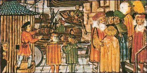 Au Moyen Age, comment appelait-on une association de marchands d'une région ?