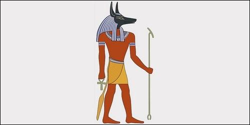 Quel Dieu de la mythologie égyptienne était représenté par une tête de chacal ?