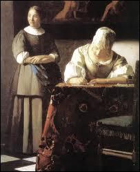 Qui a peint Rédaction d'une lettre ?