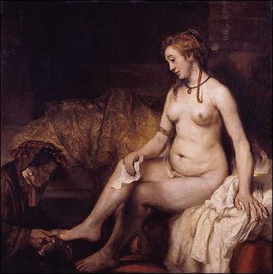 Qui a peint Bethsabée au bain tenant la lettre de David ?