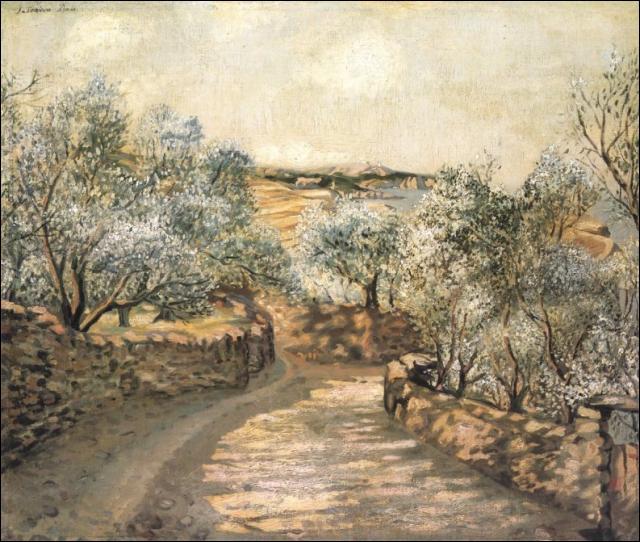 Qui a peint ce chemin menant au port, vu de Cap Creus ?