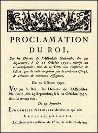 Quelle chose ''étonnante'' affirment deux décrets de la Constituante du 08/09 et du 12/10/1790 ?