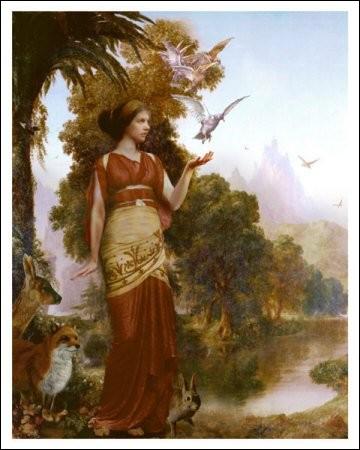 Quelle est la déesse grecque qui est sur cette image ?