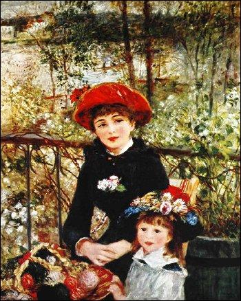 Qui a peint Deux soeurs sur la terrasse ?