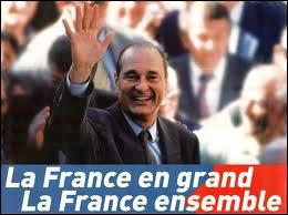 Comment Jacques Chirac a-t-il annoncé sa candidature à sa propre succession en 2002 ?