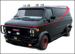Quelle est la marque du van de 'L'agence tous risques' ?