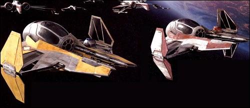 Quel nom porte le modèle des chasseurs utilisés par Anakin et Obi-Wan pour sauver le chancelier Palpatine des griffes de Grievous ?