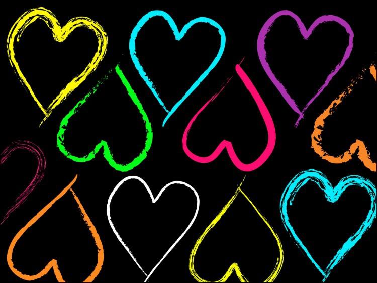 Le coeur tout en bas à droite est de couleur...