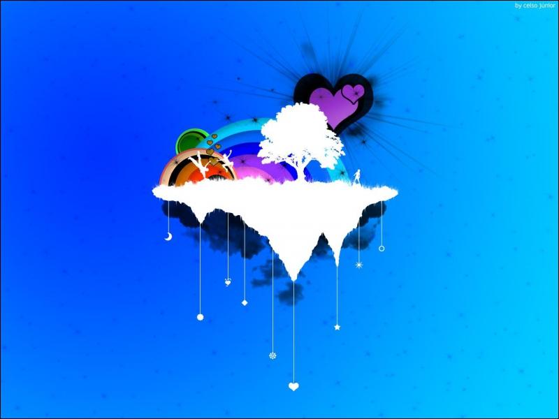 Les petits coeurs entre les personnes sont...